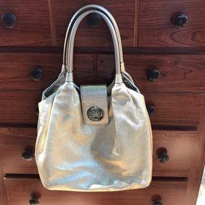 Kate Spade Gold Leather Bag